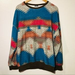 Earthbound tribal print sweater